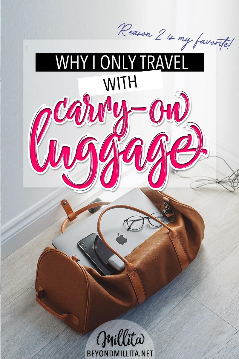 only travel with carry-on