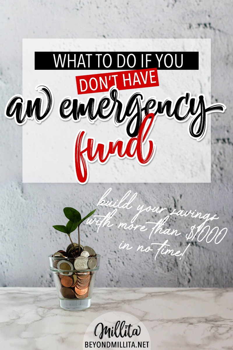 don't have an emergency fund